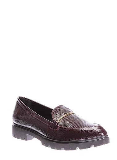İnci İnci Kadın Deri   Düz Ayakkabı Bordo